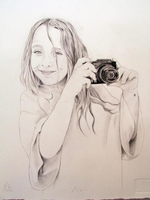 Mía,la pequeña fotógrafa